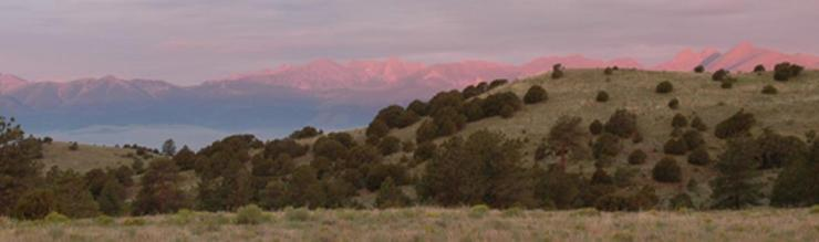 Sunrise over the Sangre de Cristo Range