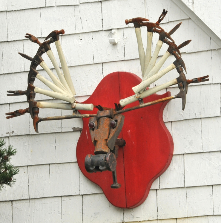 Moose Head Made From Hammers
