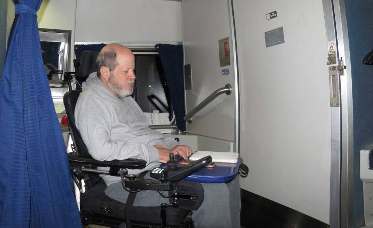 ADA accessible Amtrak sleeping room