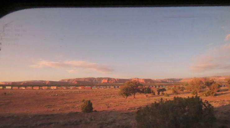 View of New Mexico from Amtrak window